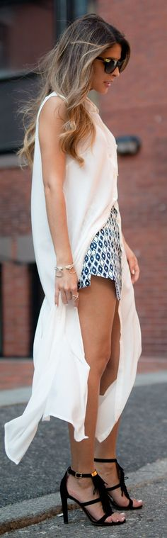 High Slit Shirtdress Outfit Inspo                                                                             Source