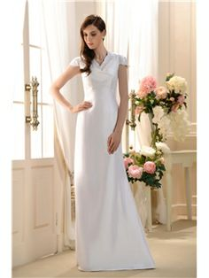 Fabulous Lace-Trimmed A-line V-Neck Floor-Length Bridesmaid Dress : Tidebuy.com