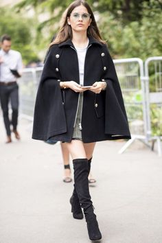 Cape & over the knee boots