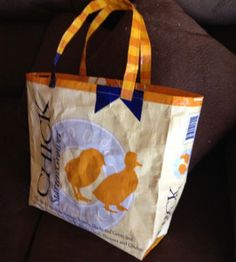 This Rustic Upcycled DIY Grocery Bag is the ultimate green craft for those who love to conserve. Instead of spending money on reusable grocery bags, you can learn how to make a bag for shopping out of a feed bag.