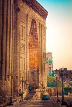 Sultan Hassan Mosque, Cairo, Egypt by Ehab Mohsen Places Around The World, Oh The Places You'll Go, Places To Travel, Places To Visit, Around The Worlds, Luxor, Interesting Facts About Egypt, Beautiful World, Beautiful Places