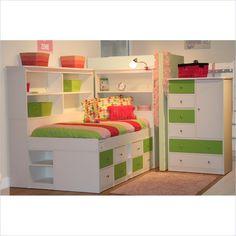 Berg Furniture Sierra Twin Size Low Jr. Captain's Bed