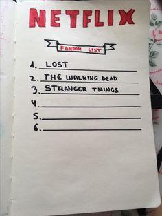 #lost #strangerthings #thewalkingdead #buelletjournal #bullet #journal #spain #eeuu #deco #school