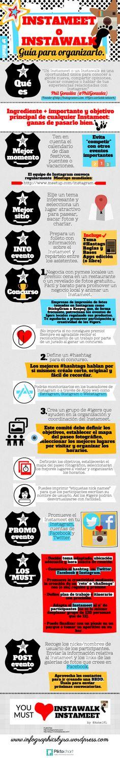 Guía para organizar un Instameet o Instawalk, infographic by Rakel Felipe Copy