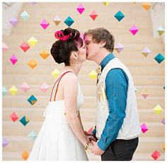 Amazing Geometric Wedding Altar Backdrop