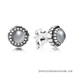 Pandora Silver June Birthstone Moonstone Stud Earrings 791491CZ