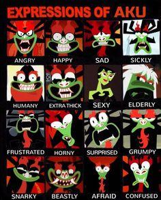 Expressions of Aku Samurai Jack - Fun Anime Gifs Ashi Samurai Jack, Samurai Jack Aku, Afro Samurai, Samurai Warrior, Usagi Yojimbo, Character Art, Character Design, Obi, Cartoon Crossovers