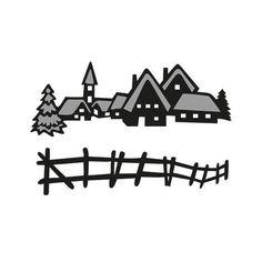 Marianne Design Craftables Dies - Tiny's Winter Village CR1288
