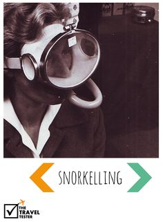 Snorkelling - Vintage Travel Photo via The Travel Tester