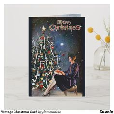 Check out all of the amazing designs that Glamour Daze has created for your Zazzle products. Make one-of-a-kind gifts with these designs! Vintage Christmas Cards, Retro Christmas, Christmas Shopping, Holiday Cards, Vintage Shops, Retro Vintage, Paper Texture, Art For Kids, Birthday Cards