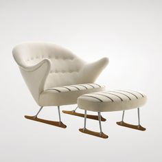 Børge Mogensen, Sleigh Chair, 1953.