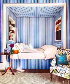 [New] The 10 Best Home Decor (with Pictures) - A blue and white bedroom for the design files Alcove Bed, Bed Nook, Bedroom Alcove, Beach Bedding Sets, Ideas Hogar, Daughters Room, The Design Files, Cozy Bedroom, Bedroom Ideas