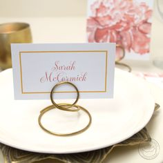 Simple, versatile card for escort cards, place cards, or other small signs!   Wedding Invitations by CharmCat Stationery & Design