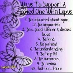 Twitter/ChronicPainDad: Ways to Support a Loved One Living with #Lupus
