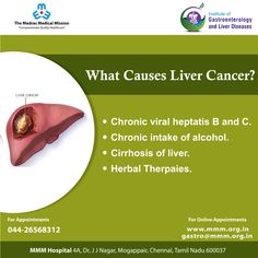 Liver cancer is cancer that begins in the cells of your liver. For Appointment's call 044 2656 8312 Liver Cancer, Liver Disease, Social Organization, Gastroenterology, Cardiology, How To Stay Healthy, Surgery, Herbalism, Health Care