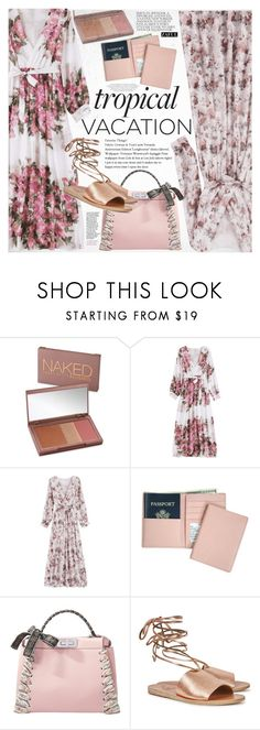 """""""Welcome to Paradise: Tropical Vacation"""" by vanjazivadinovic ❤ liked on Polyvore featuring Urban Decay, Royce Leather, Fendi, Ancient Greek Sandals, happyhour, polyvoreeditorial and zaful"""