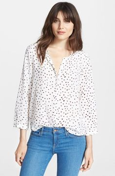 Joie 'Purine' Silk Blouse available at #Nordstrom