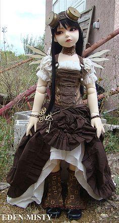:: Crafty :: Doll :: Steampunk :: Steampunk Commission for Lusion Doll | by ~ Eglantine ~