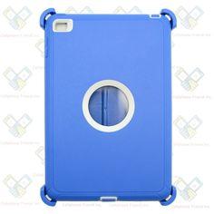 NEW Blue White Shockproof Defender rugged Hybrid Case For Apple iPad Mini 4 b1