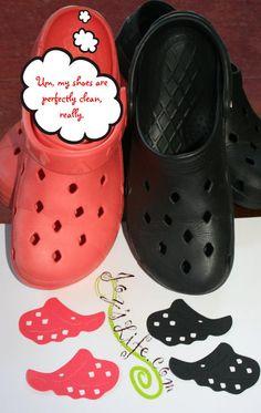 Crocs on Everyday Paper Dolls Cricut Cart!!