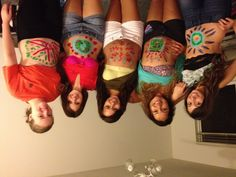 One night we painted our stomachs. Just cuz.
