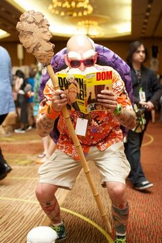Master Roshi- my first ever encounter with a really funny Japanese pervert. I actually grew up watching DBZ and I caught every single episode up to the end of Freeza. This cosplay complete with naughty girly magazine? The man in that suit deserves a handshake and a used underwear. Dragon Ball the manga is HILARIOUS and I highly recommend it.