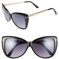 94eb3cd6e88f Women s Tom Ford Reveka 59Mm Gradient Cat Eye Sunglasess (800 BAM) ❤ liked  on