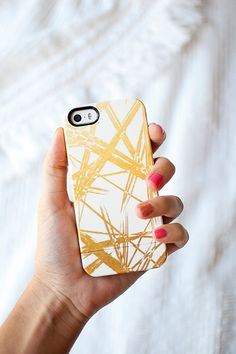 GOLD STROKES faux gold iPhone 6 iPhone 6 PLUS  by KhristianAHowell