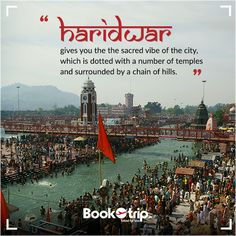 #Haridwar is regarded as one of the #sevenholiest places (#SaptaPuri) to Hindus. According to the Samudra manthan, Haridwar along with Ujjain, Nashik and Prayag (Allahabad) is one of four sites where drops of #Amrit, the elixir of #immortality, accidentally spilled over from the pitcher while being carried by the celestial bird #Garuda. This is manifested in the Kumbha Mela, which is celebrated every 12 years in #Haridwar.