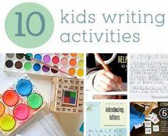 10 Kids Writing Activities