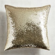 Gold & Ivory Sequined Mermaid Pillow