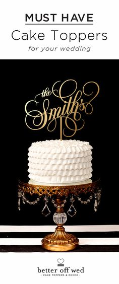 By far the most elegant topper I've come across! Can't wait to see mine on our cake! <3 www.betteroffwed.co