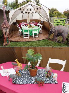 Cute & Girly Safari Birthday Party