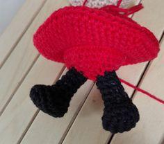 Little My from Moomin – free pattern – Katrine Klarer Little My, Little Things, Cardboard Toys, Thick Yarn, Free Pattern, Crochet Necklace, Crochet Hats, Dolls, How To Make