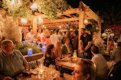 Charming chic restaurant terrace outdoor patio - OAK Garden & Grill Steakhouse restaurant in Puerto Banus, Marbella Spain Costa del Sol www.oakgardenandgrill.com