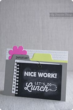 At the Office, Typewriter Text Background, 3x4 Notepad Die-namics, File Folder Edges Die-namics - Keisha Campbell #mftstamps