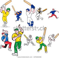 Find Set Collection Cartoon Character Style Illustration stock images in HD and millions of other royalty-free stock photos, illustrations and vectors in the Shutterstock collection. Olympic Sports, Cartoon Characters, Fictional Characters, Sports Art, Outdoor Recreation, Cricket, Retro Fashion, Royalty Free Stock Photos, Illustration