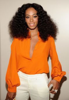At the Chime for Change event, Solange Knowles was channeling some serious Diana Ross hair.