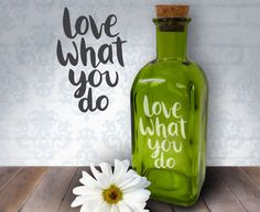 Love What You Do  17oz Laser Etched Recycled by HumbleElephant