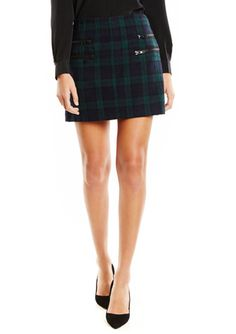 Green Plaid Buckle W118 BY WALTER BAKER Samara Skirt @ Ideel $30