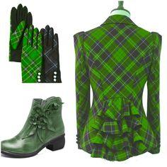 The boots on this are gorgeous Pretty Outfits, Stylish Outfits, Fashion Outfits, Womens Fashion, Image Fashion, I Love Fashion, Style Anglais, Tartan Fashion, Tartan Kilt