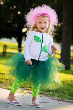 Flower Tutu Costume (hat, shirt, tutu and leg warmers)