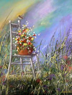 Flower Chair Painting