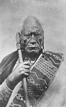 Taraia Ngakuti, a chief of Ngati Tamatera in the Coromandel, was one of many notable chiefs who refused to sign the Treaty of Waitangi. Nz History, History Online, Maori People, Tribal People, Once Were Warriors, Treaty Of Waitangi, Ta Moko Tattoo, Waitangi Day, Polynesian People