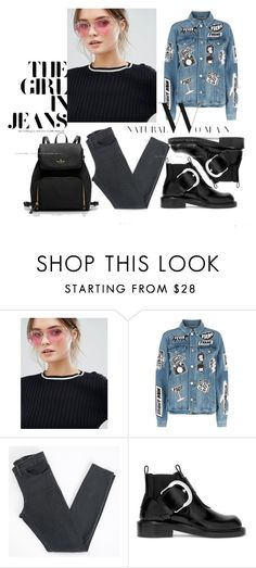 """""""need more jeans"""" by rose-rose1 on Polyvore featuring Jeepers Peepers, Frame, Acne Studios, Maison Margiela, cool, chic and denim"""