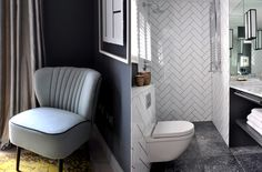 Look of tiles proposed for small bathroom