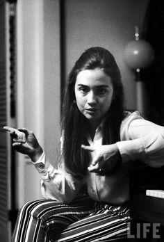 Hilary Rodham Clinton in 1969.