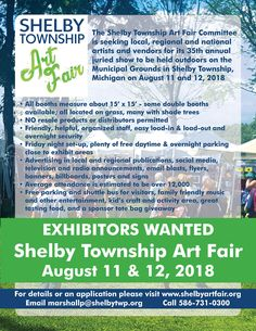 Shelby Township Art Fair - an annual event held in Shelby Township Michigan