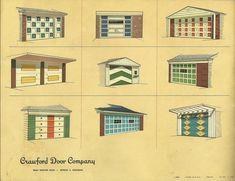 mid century modern garage doors :)