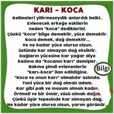 Kari koca kelimesi aslında     KOCA VE ONUN KARI imiş Quotations, Qoutes, Life Quotes, Meaningful Quotes, Cool Words, Personal Development, Karma, Did You Know, Psychology